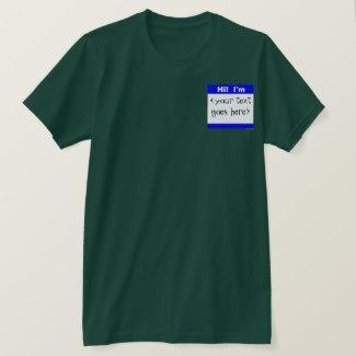 Nametag (Blue) T-Shirt