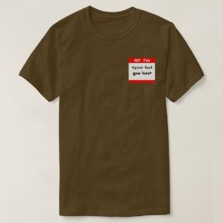 Nametag (Red) T-Shirt