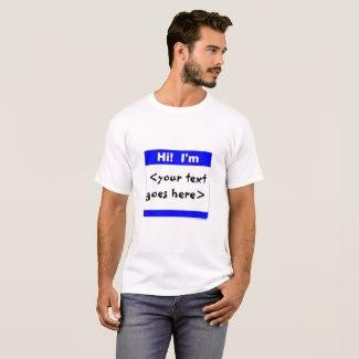 Nametag (Blue) T-Shirt