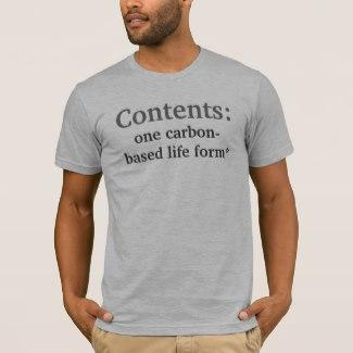 Contents, Disclaimer T-Shirt